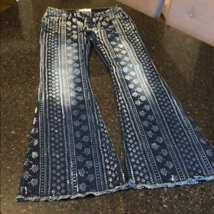 SO CUTE! Free People Bali Flares, Size 28